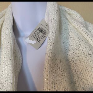 NWT Ann Taylor White Speckled Infinity Scarf